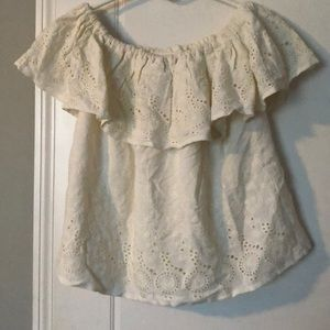 Lucky Brand off shoulder blouse